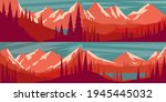set of cartoon mountain...   Shutterstock .eps vector #1945445032