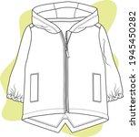hooded raincoat design for baby.... | Shutterstock .eps vector #1945450282