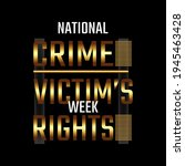 national crime victim s rights... | Shutterstock .eps vector #1945463428