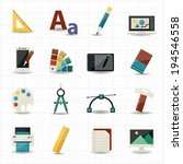 creativity and design icons   Shutterstock .eps vector #194546558