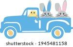 easter truck svg vector... | Shutterstock .eps vector #1945481158