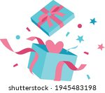 tiffany blue open colorful... | Shutterstock .eps vector #1945483198