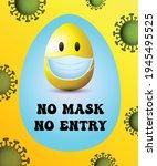 easter egg background vector... | Shutterstock .eps vector #1945495525