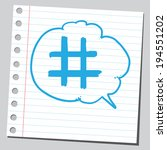 hashtag sign in comic bubble | Shutterstock .eps vector #194551202