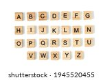 Top view of english alphabet...