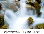 Mountain River With Small...