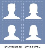 people profile silhouettes in... | Shutterstock .eps vector #194554952