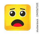yellow square emoticons and... | Shutterstock .eps vector #1945567105