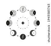 hand drawn black celestial...   Shutterstock .eps vector #1945585765