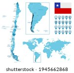 chile detailed administrative... | Shutterstock .eps vector #1945662868