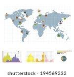 grey world round infographic ... | Shutterstock .eps vector #194569232