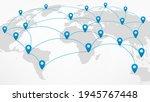 world network abstract scheme... | Shutterstock .eps vector #1945767448