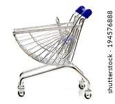 blue shopping cart model on... | Shutterstock . vector #194576888
