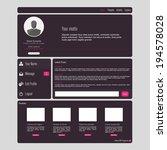 flat web ui concept   eps10...