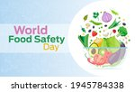 world food safety day on june 7 ...   Shutterstock .eps vector #1945784338