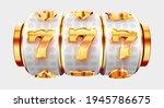 golden slot machine wins the... | Shutterstock .eps vector #1945786675