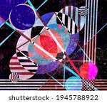 abstract geometric watercolor... | Shutterstock . vector #1945788922
