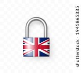 reliable closed padlock...   Shutterstock .eps vector #1945865335