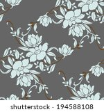 seamless pattern with beautiful ... | Shutterstock .eps vector #194588108