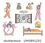 various reactions of people who ... | Shutterstock .eps vector #1945891252