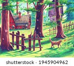 Magic Forest Landscape With...