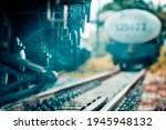 Close Up Steel Railroad...