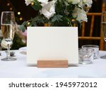 mockup white blank space card ... | Shutterstock . vector #1945972012