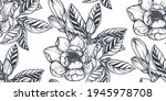 black and white vector floral... | Shutterstock .eps vector #1945978708