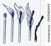 vector set of matches.... | Shutterstock .eps vector #1945983445