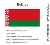 belarus national flag  country...   Shutterstock .eps vector #1946004322