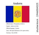 andorra national flag  country...   Shutterstock .eps vector #1946004325