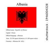 albania national flag  country...   Shutterstock .eps vector #1946004328