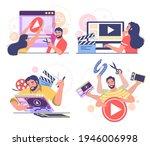 motion designer  animator  male ... | Shutterstock .eps vector #1946006998