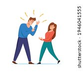 angry  arguing couple of people ...   Shutterstock .eps vector #1946041555