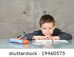 7 years old boy doing his... | Shutterstock . vector #19460575
