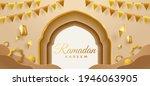 eid mubarak golden paper... | Shutterstock .eps vector #1946063905