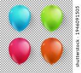realistic balloon 3d birthday...   Shutterstock .eps vector #1946091505
