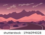 mountains with road landscape... | Shutterstock .eps vector #1946094028