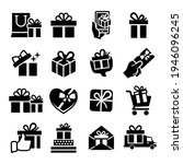 gift box set of vector icons....