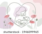 happy mother day card. woman... | Shutterstock .eps vector #1946099965
