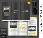 classic vector brochure... | Shutterstock .eps vector #194614325