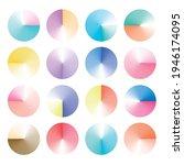 set of round vector gradient.... | Shutterstock .eps vector #1946174095