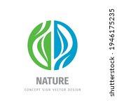 nature logo concept design....   Shutterstock .eps vector #1946175235