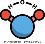 icon of chemical molecule water....