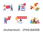 people use gadgets. set of... | Shutterstock .eps vector #1946186008