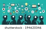 mind map team   illustration | Shutterstock .eps vector #194620346