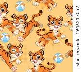 seamless pattern with joyful...   Shutterstock .eps vector #1946217052