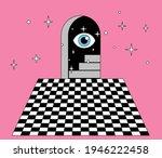 surreal masonic like landscape... | Shutterstock .eps vector #1946222458