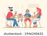 family having dinner together... | Shutterstock .eps vector #1946240632
