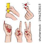 manicure nails beauty salon ... | Shutterstock . vector #1946252815